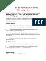 Beneficios de Formalizarse Como Microempresa