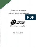 Informe Junta Constitutiva Rabie