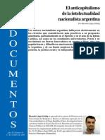 El Anticapitalismo de La Intelectualidad Argentina