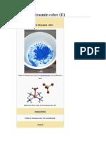 Sulfato de Tetraamín Cobre