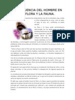 La Influencia Del Hombre en La Flora y La Fauna