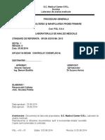 PGL - 5.4.4 - Recoltarea Şi Manipularea Probei Primare