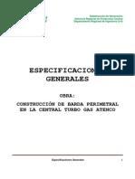Especificaciones Barda Atenco