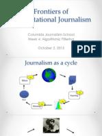 Algorithmic Filtering. Computational journalism week 4