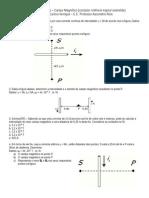 6º Lista de Exercícios Campo Magnético (Fio_espira_solenóide)