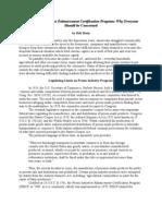 Prison Industries Enhancement Certification Program
