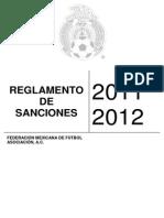 Reglamento de Sanciones 2011 2012