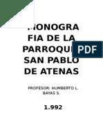 Monografia de La Parroquia San Pablo de Atenas