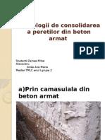 Tehnologii de Consolidare a Peretilor Din Beton Armat