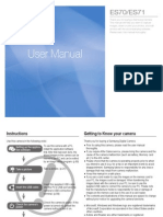 Samsung ES70(SL600) English User Manual