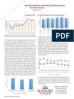 August 2015 Virginia Consumer Sentiment and Price Expectations Summary Report