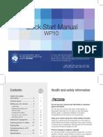 Samsung WP10(AQ100) Quick Start Manual
