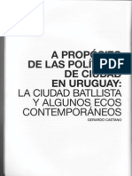 A Proposito de Las Politicas de Ciudad Gerardo caetano