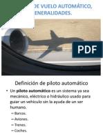 Sistema de Vuelo Automatico, Generalidades