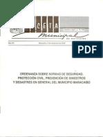 Ordenanza de Bomberos de Maracaibo 6-12-2008
