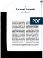 Gumperz the Speech Community