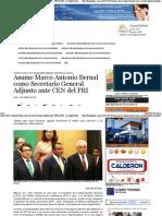 12-10-15 Asume Marco Antonio Bernal Como Secretario General Adjunto Ante CEN Del PRI - La Región Tamaulipas