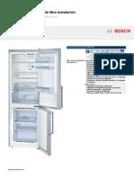 Folleto Frigo Bosch KGN36XL30