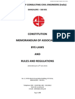 Draft Bye Laws