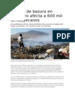 Quema de Basura en Botadero Afecta a 600 Mil Lambayecanos