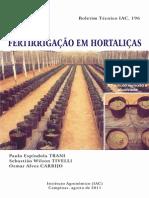 Fertirrigação em Hortaliças - Boletim Iac Bt 196 Final