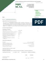 Tablas Con Las Caraterísticas Técnicas y Propiedades Del Pvc Policloruro de Vinilo en Formato de Barras y Placas de Plasticbages
