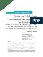 Discursos habilitantes y nuevos escenarios en las políticas sociales