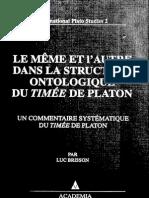 Brisson - Le Meme Et l'Autre Dans La Structure Ontologique Du Timee de Platon