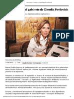 11-09-15 Dan a conocer el gabinete de Claudia Pavlovich - El Universal