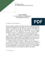 Apuntes Cuarta Unidad Del Libro El Derecho Sustantivo Agrario.
