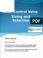 Basic Control Valve and Sizing and Selection
