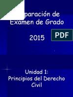 Preparación de Examen de Grado 2015