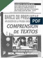 Banco de Preguntas Comprension de Textos