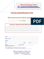 Banquet 2015 Ad Journal Response Form