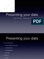 Presenting Your Data