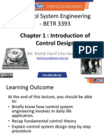 Control System Engineering Chapter 1 - Introduction