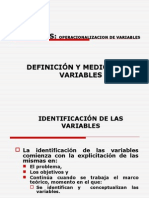 4. VARIABLES Operacionalizacion