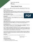 Report Sample Format