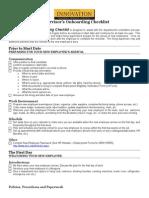 Supervisor Onboarding Checklist