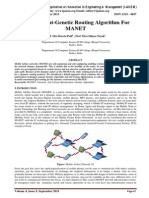 Dynamic Ant-Genetic Routing Algorithm For MANET