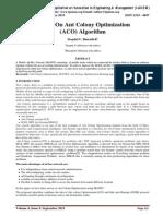 Survey On Ant Colony Optimization (ACO) Algorithm