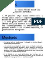 8. FERNANDO G. TENÓRIO - Gestão Social - Uma Perspectiva Conceitual