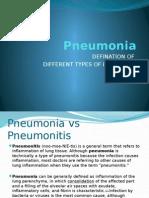 Pneumonia Definations & Classifications