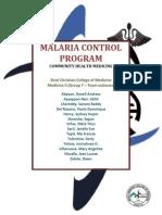 Malaria Control Program (Hard Copy)