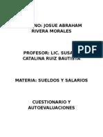 Cuestionario Autoevaluaciones de Sueldos y Salarios