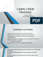 Cabin Crew Training Lesson 7 and 8