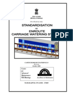 Report on Standardisation of Enroute Carriage Watering System