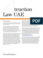 UAE Laws Related to Construction1