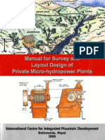 Icimod-manual for SuSASArvey and Layout Design of Private Micro-hydropower Plants
