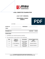 SBV0013 - Final Exam Paper